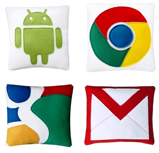 google pillows by craftsquatch Google and iOS Pillows   Just click for comfort