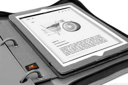 binderpad BinderPad lets you carry your tablet in a 3 ring binder