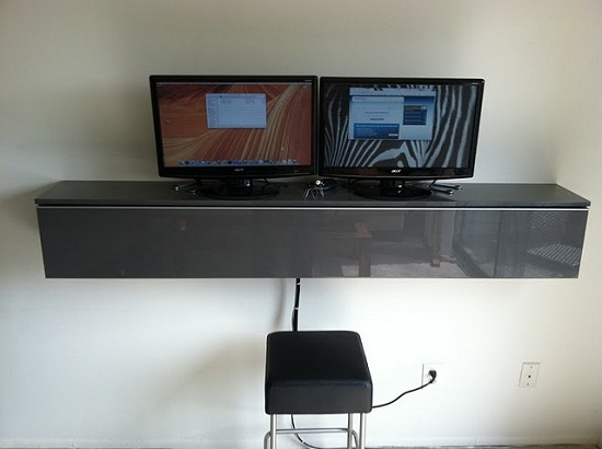sml Finished 761511 Turn an IKEA shelf into a wall mounted desk
