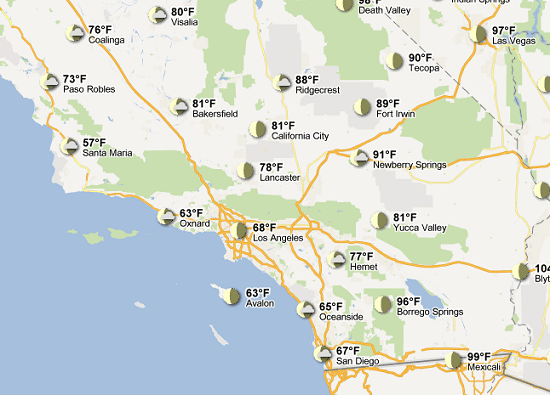 weather Google brings weather to your maps