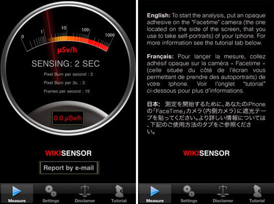 wikisensor WikiSensor turns your iPhone into a Geiger counter