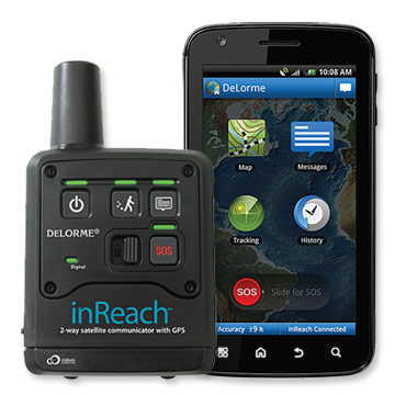 inReach uses satellites to send text messages and GPS coordinates when you're in danger