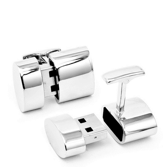 USB Cufflinks provide extra storage and a WiFi connection