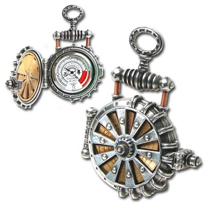 AW18 Turbine Steampunk Fob Watch is solar powered