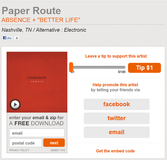 noisetrade Looking for free music downloads? Try NoiseTrade