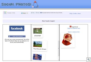 socialphotos2 thumb Social Photos lets you migrate photos or albums between Facebook, Flickr and Google+ instantly