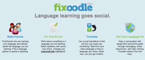 fixoodle small Fixoodle language translation community uses the wisdom of die horde