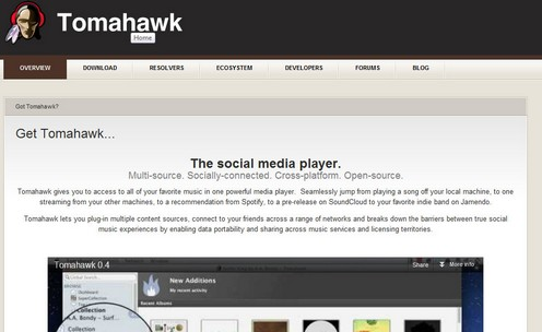 tomahawk1 small Tomahawk is a superb free open source music player which is a music magnet [Daily Freeware]