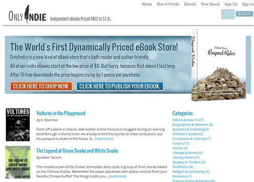 onlyindie small Only Indie is the worlds first dynamically priced eBook store