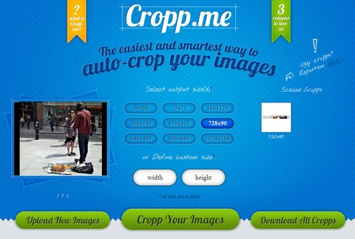 croppme small Cropp.me is an instant photo cropping tool with smarts