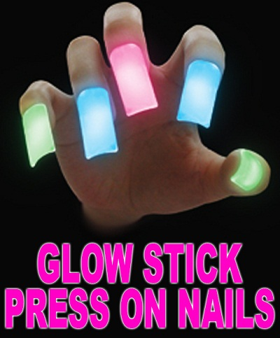 villagestreetwear 2203 4425274743 Glow Stick Press On Nails