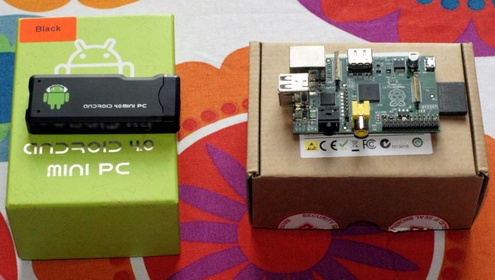 androidrasppiboxes Raspberry Pi vs Android 4.0 Thumb PC : disappointing Pi is sadly not ready for prime time TV