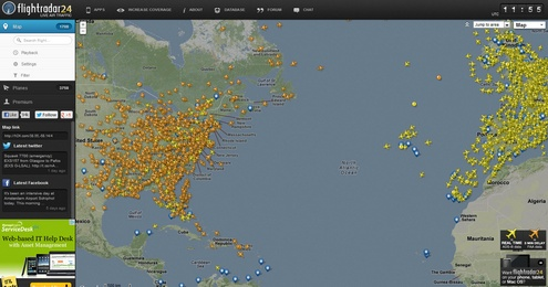 flightradar24 Awesome FlightRadar24 lets you track live air traffic across the world...