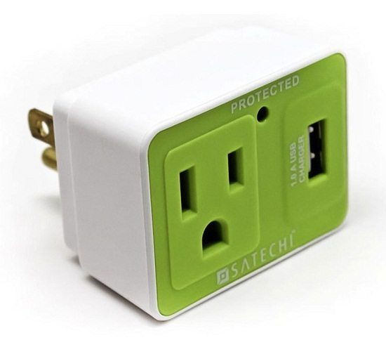 302778 satechi compact usb surge protector Satechi Compact USB Surge Protector frees up an outlet