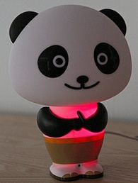 pandarobottalkinglamp2 Panda Robot Talking Lamp Clock is the kind of robot buddy we can live with