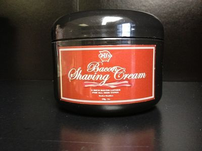 JDs Bacon Shaving Cream 1 Let them know you care, with the Bacon Aroma Collection