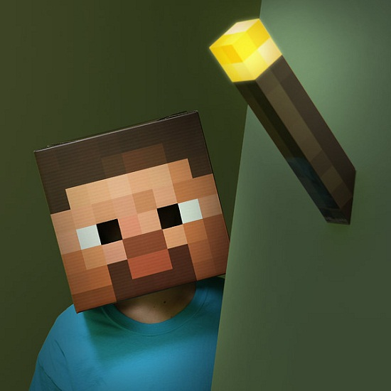 minecraft wall torch inhand onwall Minecraft Light Up Torch will make sure no one can creep up on you