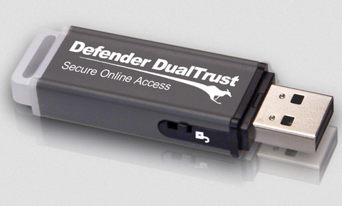 defenderdualtrust Kanguru Defender DualTrust   carry around your own ultra safe web browser on a keyring
