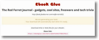 ebookglue2 eBook Glue lets you turn your blog into an eBook for free