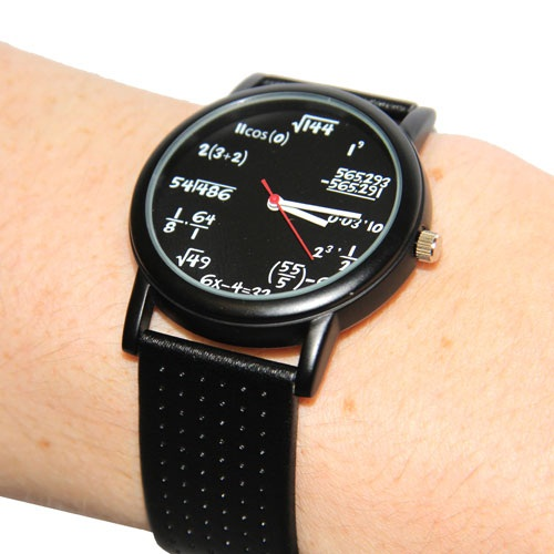 equation watch wrist close Equation Watch – Learning to tell time was never this complicated