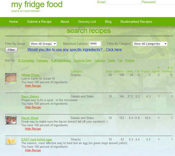 myfridgefood2 small My Fridge Food   instantly find a recipe from your fridge contents