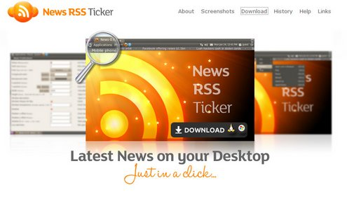 tickr Tickr   the latest news on your desktop with a click [Freeware]