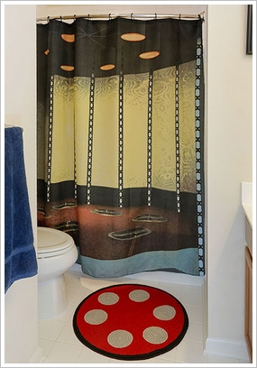 startrektransponderbathroomkit Star Trek Transporter Bathroom Set   escape the drudgery of your little room with style