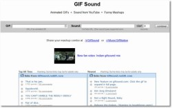 GIF Sound – combine your fave audio with gif images and enjoy…