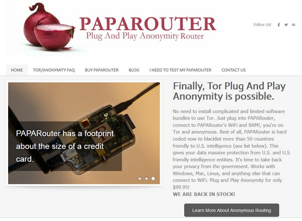 paparouter3 PAPARouter   this is what you need if you REALLY want to be anonymous on the web