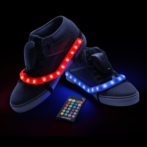 Light Kicks LED Shoe Light System – Your feet are so bright you gotta wear shades