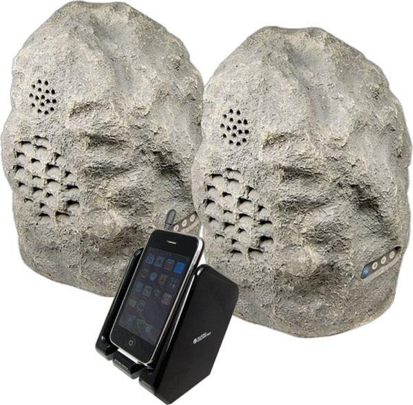 Rock 2 Cables Unlimited Wireless Speakers Rock 2 Cables Unlimited Wireless Speakers   Rock out with the outside rocks