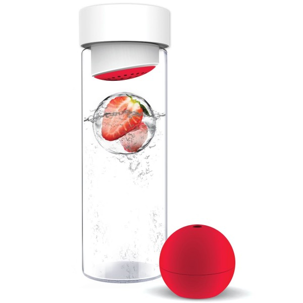 fruit iceball maker e1389908638649 Fruit Iceball Maker   transforms your boring old glass of water into a refreshing fruity drink