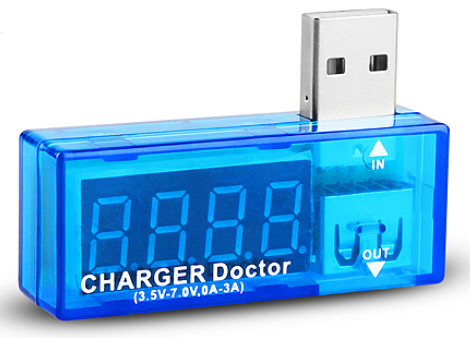 usbvoltagetester2 1 Charge Doctor USB Voltage and Current Tester   helps protect your phones and tablets from charging disasters