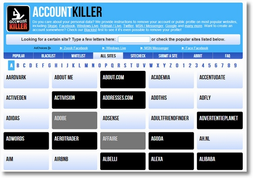accountkillersitecheck4 AccountKiller SiteCheck   free tool tells you how easy it is to delete an account before you sign up [Freeware]