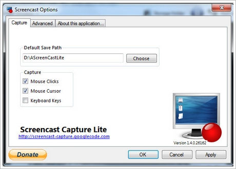 screencastcapturelite3 Screencast Capture Lite   superb free program for capturing your screen as a video with audio [Freeware]