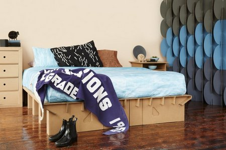 kartonbedroom Stylish and sturdy furniture made of cardboard