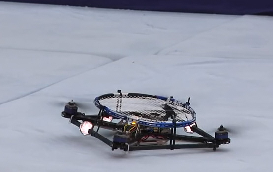 quadcoptertennis2 Quadcopter Tennis Anyone? Is this a pointer to a possible future of ball sports?