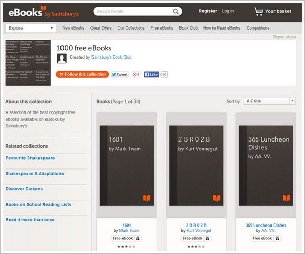 1000freeebooks 1000 Free E Books   available for free download [Freeware]