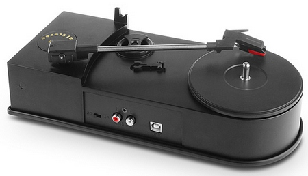 usbminiturntablecaptureandplayer2 USB Mini Turntable Capture & Player   digitize your vinyl classics with this portable gizmo