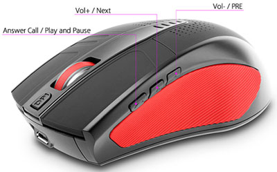 bluetoothspeakermouse2 Bluetooth Speaking Mouse   the coolest hands free speaker which isnt
