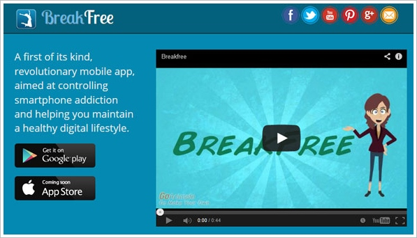 breakfreeapp BreakFree Cell Phone Addiction   fight your phone addiction and control your kids use too [Freeware]