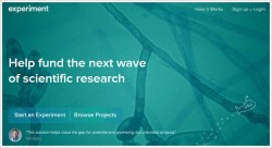 Experiment – help fund the next wave of scientific research