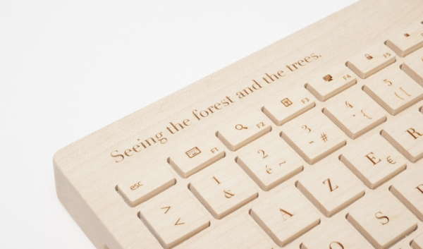 Oree Personal Orée Board 2   all wood designer keyboard says a lot about who you really are
