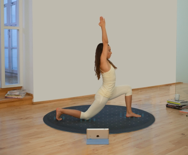 Tara Yoga Pose 2 Tera   The Tech Mat That Turns Yoga Into Twister
