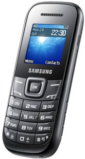 samsunge1200b Samsung E1200 Mobile Phone   .49 pence new, 7 hours talk time, 3 weeks battery life