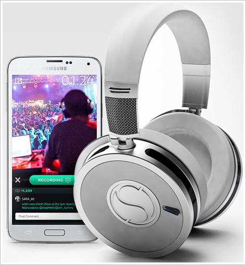 soundsight Soundsight Headphones   Bluetooth wireless headphones with an in built camera, just because they can...?