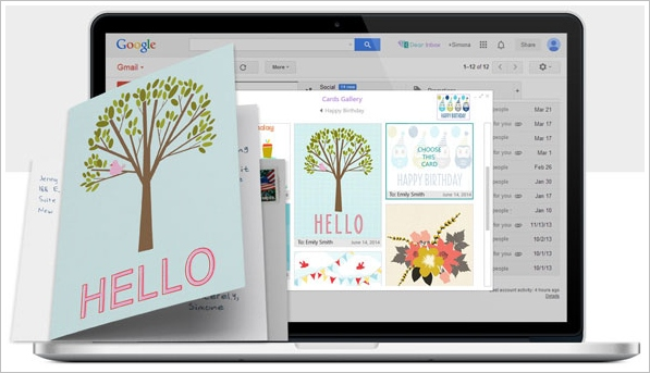 dearinbox Dear Inbox   browser plugin lets you send real greetings cards as easily as email