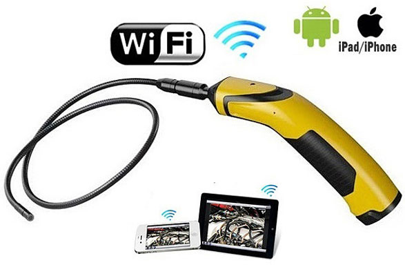 wifiinspectioncameraforsmartphone 1 WiFi Inspection Camera For Smartphones   now you can view (and record) stuff you probably wish you couldnt