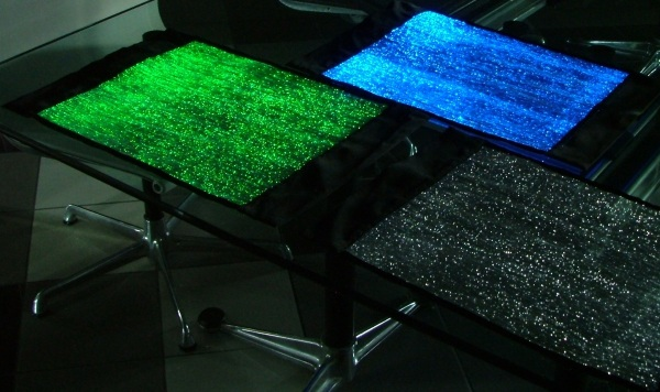 fiber optic table cloths1 LumiGram Luminous Table Runner – why eat off cotton when you can dine on TRON tastic?