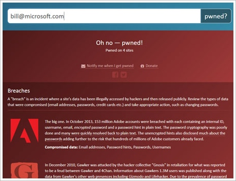 haveibeenpwned3 Have I Been Pwned?   instantly find out whether your email address or username has been hacked